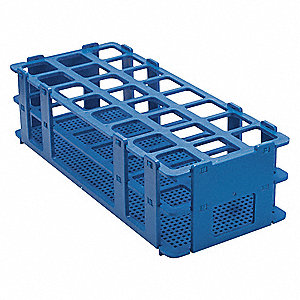 Test Tube Rack,No-Wire,25mm,Blue