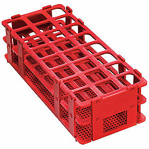 Test Tube Rack, No-Wire, 25mm, Red