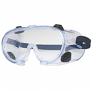 Uncoated Safety Goggles, Clear Lens Color