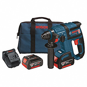 Cordless Rotary Hammer Drill Kit, 18.0 Voltage, 0 to 4500 Blows per Minute, Battery Included