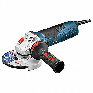 "Angle Grinder, 6"" Wheel Dia., 12 Amps, 120VAC, 9300 No Load RPM, Paddle Switch"