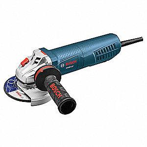 "Angle Grinder, 4-1/2"" Wheel Dia., 11 Amps, 120VAC, 11,500 No Load RPM, Paddle Switch"