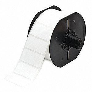 "Thermal Transfer Label Roll, White, 1""W x 2"""