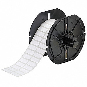 "Thermal Transfer Label Roll, White, 1""W x 3/8"""