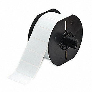 "Thermal Transfer Label Roll, White, 1""W x 1-29/32"""