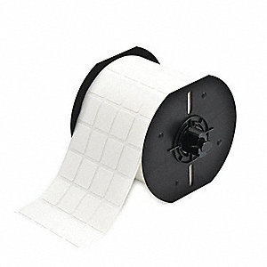 "Thermal Transfer Label Roll, White, 3/4""W x 15/16"""