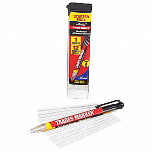 Permanent Paint Marker, Paint-Based, Whites Color Family, Medium Tip, 1 EA