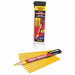 Trades-Marker All-Surface Marker,Yellow
