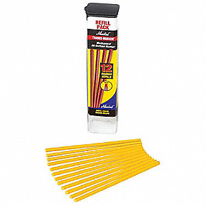 Permanent Paint Marker Refill, Paint-Based, Yellows Color Family, Medium Tip, 12 PK
