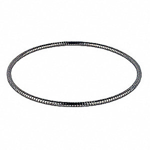 O-ring,  127mm Overall Length,  FEP-Encased Stainless,  Silver