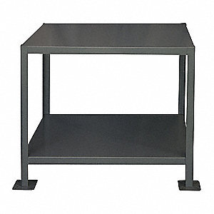 MACHINE TABLE,24X60X30,2 SHELF