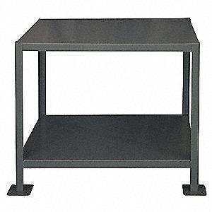 MACHINE TABLE,24X48X36,2 SHELF