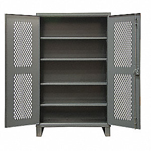 STORAGE CABINET,24X36X78,4 SHELVES