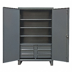 STORAGE CABINET,24X48X78,6 DRAWER