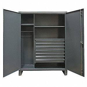 STORAGE CABINET,24X48X78,2 SHELVES