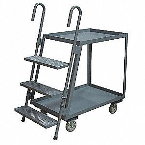 Stock Picking Ladder Cart,42 In. L