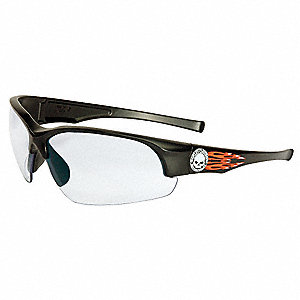 HD1400 Scratch-Resistant Safety Glasses, Clear Mirror Lens Color