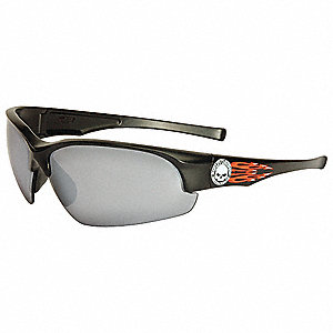 HD1500 Scratch-Resistant Safety Glasses, Silver Mirror Lens Color