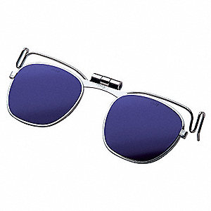 Clip On Eyewear,Cobalt,ChromePlatedSteel