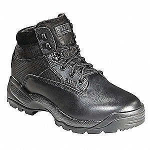 Military/Tactical Boots, Toe Type: Plain, Black, Size: 8