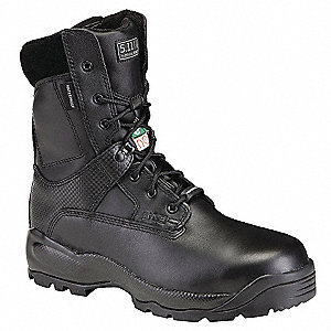 Military/Tactical Boots, Toe Type: Composite, Black, Size: 4