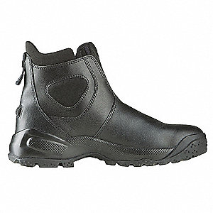 Military/Tactical Polishable Boots, Toe Type: Plain, Black, Size: 11-1/2