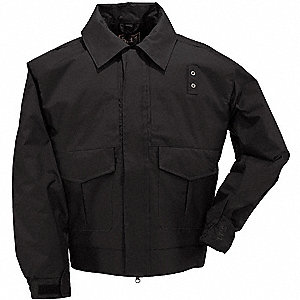 "Patrol Jacket, R/5XL Fits Chest Size 62"" to 64, Black Color"