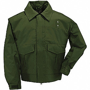 "Patrol Jacket, R/2XL Fits Chest Size 50"" to 52"", Sheriff Green Color"