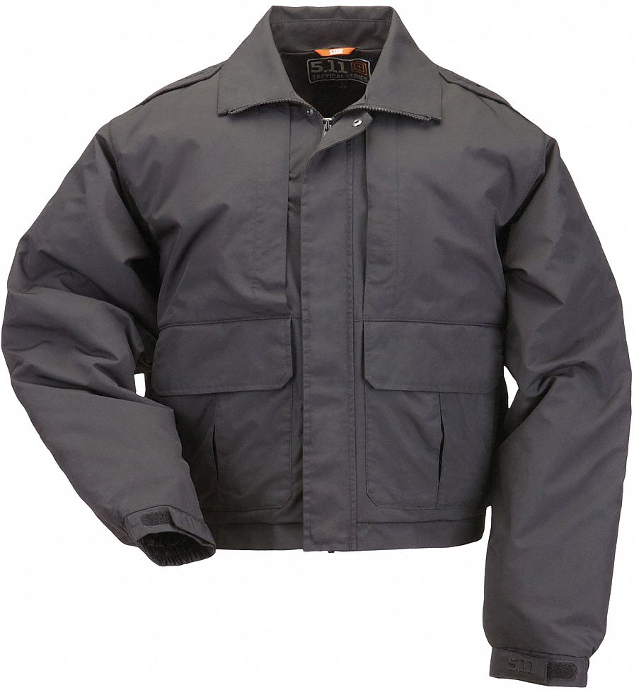 Jacket, L Fits Chest Size 42 in to 44 in, Black Color