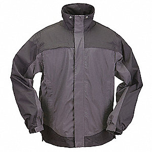 "Unisex Charcoal Nylon Tactical Rain Jacket, Size 3XL, Fits Chest Size 54 to 56"", Waist Jacket Length"