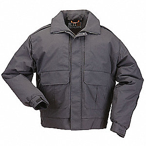 "Signature Duty Jacket, R/4XL Fits Chest Size 58"" to 60"", Black Color"