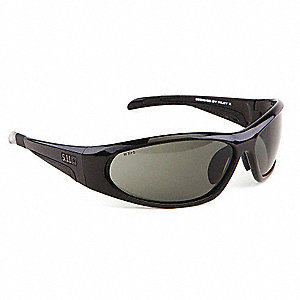 Ascend  Scratch-Resistant Safety Glasses, Smoke Lens Color