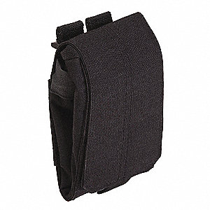 X-Large Drop Pouch,Black,Nylon,11 x 8 In