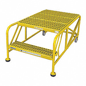 Work Platform,2 Step,Steel,20In. H.
