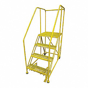Work Platform,4 Step,Steel,70In. H.
