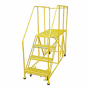 "Work Platform, Steel, Single Access Platform Style, 40"" Platform Height"