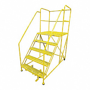 "Work Platform, Steel, Single Access Platform Style, 50"" Platform Height"