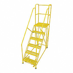Work Platform,6 Step,Steel,96In. H.