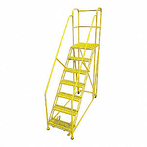 Work Platform,7 Step,Steel,106In. H.