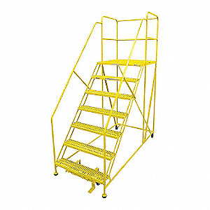 "Work Platform, Steel, Single Access Platform Style, 70"" Platform Height"