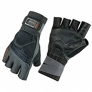 Impact Gloves, L, Black,PR