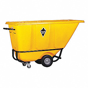 Yellow Tilt Truck, 13.5 cu. ft. Capacity, 850 lb. Load Capacity