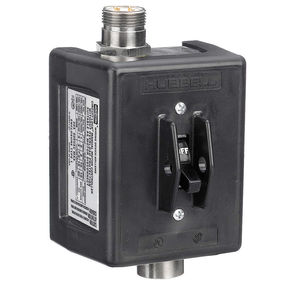 HUBBELL WIRING DEVICE-KELLEMS 3 Pole Quick Disconnect Switch ...