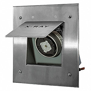 Gray Locking Receptacle, 60 Amps, 240VAC Voltage, NEMA Configuration: Non-NEMA