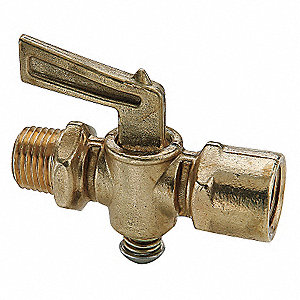 Ground Plug Shutoff Cock Valve,1/8 In