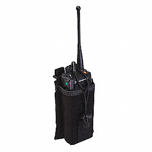 Radio Pouch,Black,Nylon,5-3/8 x 3-5/8 In