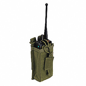 Radio and Phone Pouch, Hook-and-Loop, 1000D Nylon, Tac OD