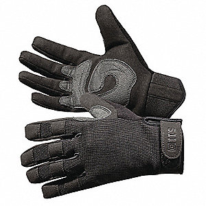 General Utility Mechanics Gloves, Synthetic Suede Palm Material, Black, M, PR 1