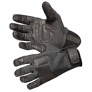 Leather Cut Resistant Gloves, Kevlar® Lining, Black, 2XL, PR 1