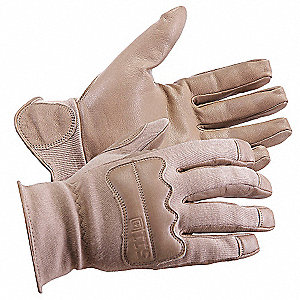 Goatskin Leather Driver's Gloves, Slip On Cuff, Coyote